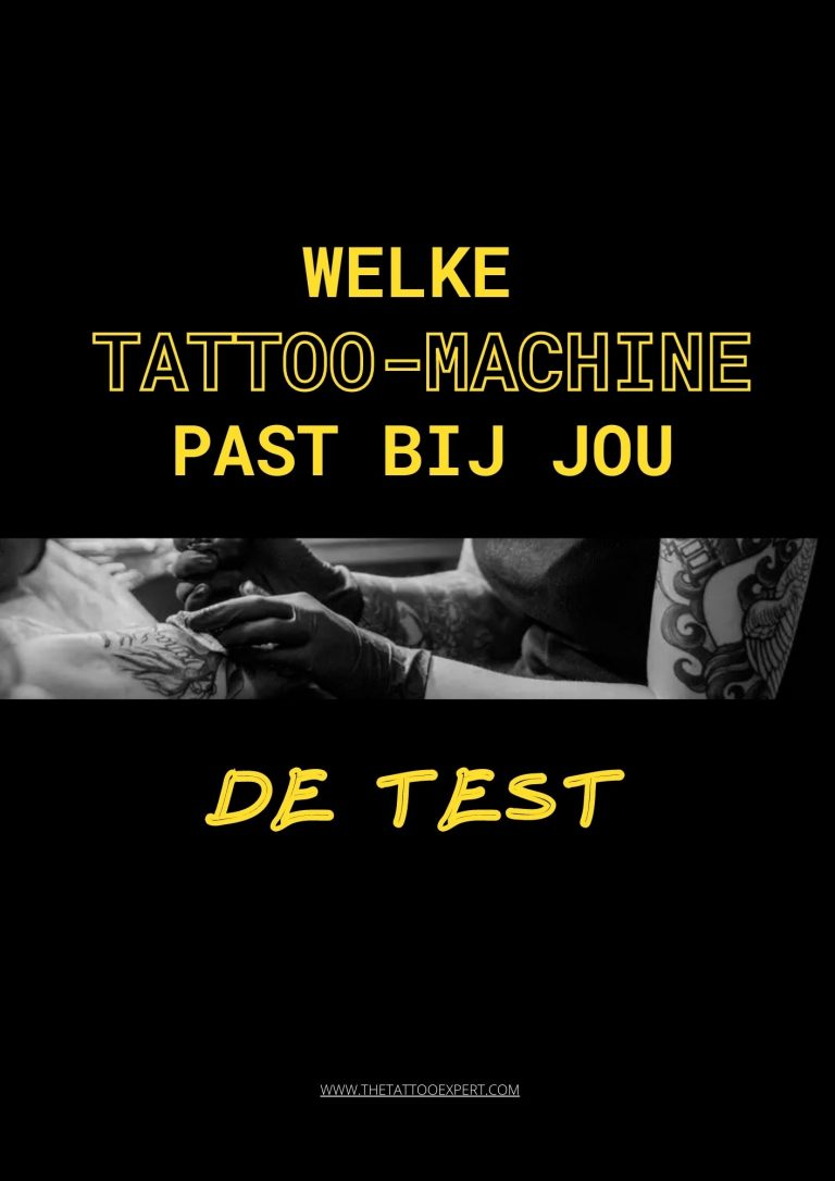 Welke tattoomachine past bij jou
